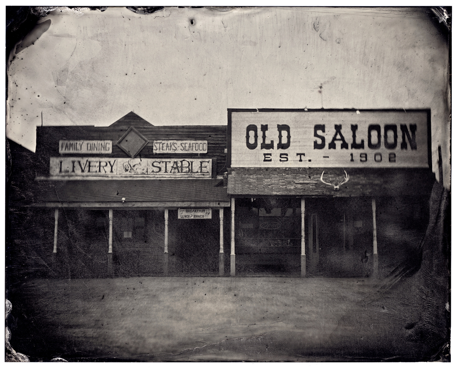 Old Saloon --Tintype- - James Weber